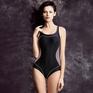 BALNEAIRE 范德安 F60387 女士连体泳衣 黑色 M