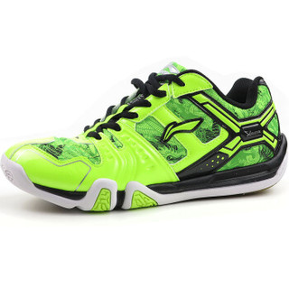 LI-NING 李宁 AYTL067 男士羽毛球鞋 防滑训练鞋 荧光亮绿 41码