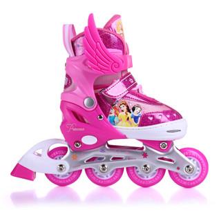 Disney 迪士尼 儿童溜冰鞋套装 (桃红色公主款、M码)