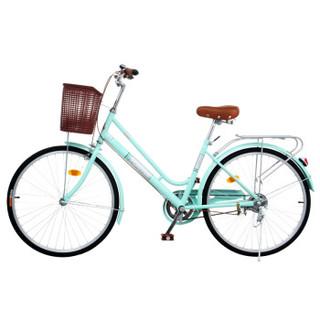 永久 FOREVER 24吋琳达复古风女士自行车 薄荷绿色(厂家发货)