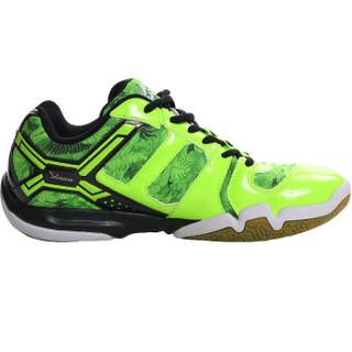 LI-NING 李宁 AYTL067 男士羽毛球鞋 防滑训练鞋 荧光亮绿 44码