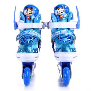 Disney 迪士尼 儿童溜冰鞋套装 (蓝色米奇款、S码)