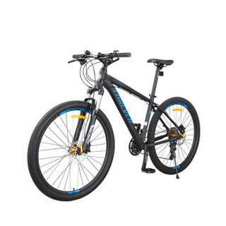 永久 27.5寸自行车 禧玛诺油碟刹30级变速 76年签名纪念款山地车 男女士学生单车 F1940-1 黑蓝色