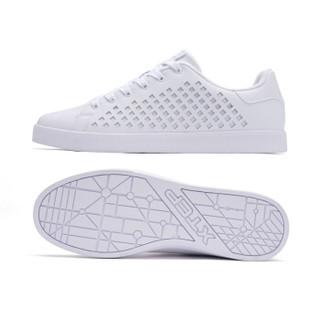 XTEP 特步 982119319017 男士板鞋 白色 45码