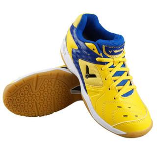 VICTOR 威克多 SH-9200JR 儿童羽毛球鞋 (黄蓝色、31)