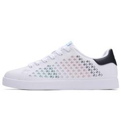 Xtep特步女子板鞋2018新品潮流革面系带低帮时尚经典小白鞋耐磨防滑板鞋982118319017