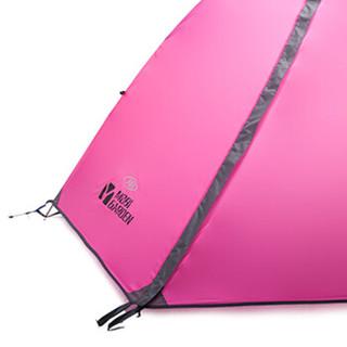 牧高笛 露营防风防雨通风透气三人铝杆帐篷 冷山3air升级版 MZ092005-A 热带粉
