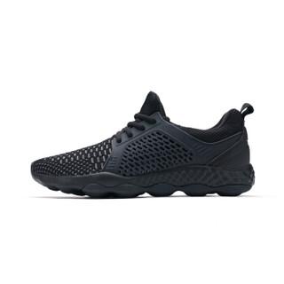 XTEP 特步 982119119095 男士网面慢跑鞋 黑 45码