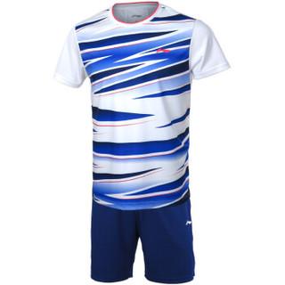 LI-NING 李宁 AATM033 男款羽毛球比赛套装 (标准白 XL)