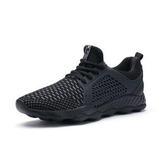 XTEP 特步 982119119095 男士网面慢跑鞋 黑 44码