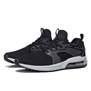 361° 361度 671812231-4 男士半掌气垫跑步鞋 (41、乌黑色/太空灰)