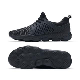 XTEP 特步 982119119095 男士网面慢跑鞋 黑 41码