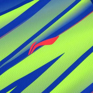 LI-NING 李宁 AATM033 男款羽毛球比赛套装 (晶蓝色 4XL)