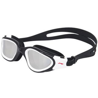 LI-NING 李宁 LSJL627 大框镀膜游泳镜 黑白