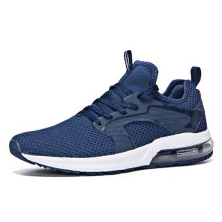 361° 361度 671812231-3 男士半掌气垫跑步鞋 (40、庄园蓝/361度白)