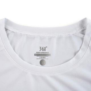 361° 361度 651822103 男子短袖T恤(本白 L)
