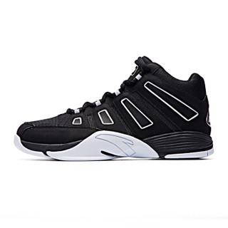 ANTA 安踏 91741135 男士高帮篮球鞋 NBA男子战靴 黑/安踏白 42