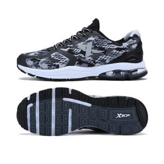 XTEP 特步 983219119173 男士跑步鞋 黑灰 42码