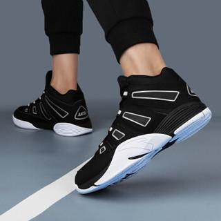 ANTA 安踏 91741135 男士高帮篮球鞋 NBA男子战靴 黑/安踏白 43