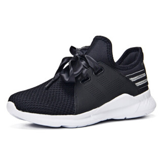 361° 361度 681822211-4 女士防滑跑步鞋 (40、乌黑色/361度白)