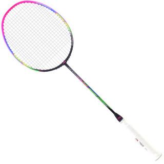 李宁(LI-NING)超轻6U全碳素羽毛球拍风暴 WindStorm WS72 紫粉 单拍 (已穿线)