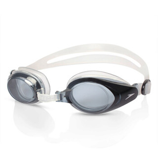 SPEEDO 速比涛 8008513081 男女士近视泳镜 (防雾、透明/暗灰、200度)