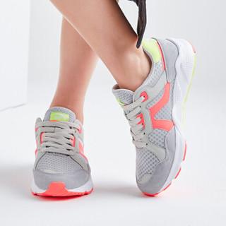 ANTA 安踏 92728861 女士运动鞋 淡灰/荧光活力粉-2 36