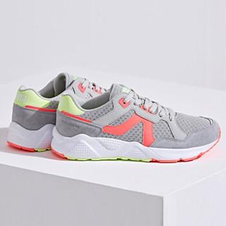 ANTA 安踏 92728861 女士运动鞋 淡灰/荧光活力粉-2 38.5