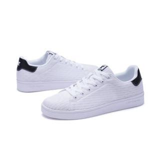 XTEP 特步 982119319985 男士板鞋 白黑 41码