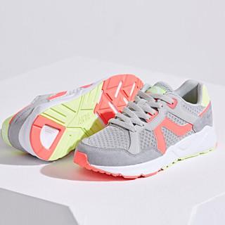ANTA 安踏 92728861 女士运动鞋 淡灰/荧光活力粉-2 36.5