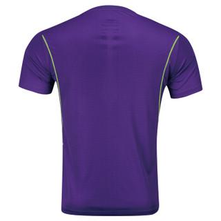LI-NING 李宁 AHSL375 男款羽毛球文化衫(新湖人紫 XL)