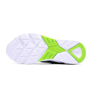 ANTA 安踏 11648800 男士慢跑鞋 黑/荧光电光绿-4 44.5