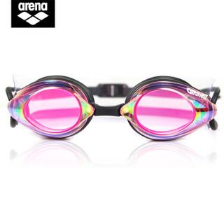 arena 阿瑞娜 AGL1900-RUPB 专业竞技电镀游泳镜 粉色
