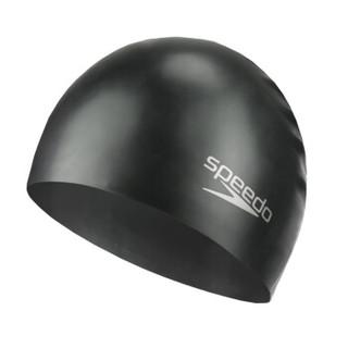 SPEEDO 速比涛 8709910001 成人硅胶泳帽 黑色 均码