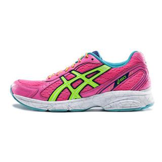 ASICS 亚瑟士 MAVERICK 2 T25XQ-2007 女子跑鞋 粉色/荧光黄/绿色 37.5