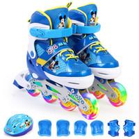 Disney 迪士尼 DCB71250-A8 儿童全闪光轮滑鞋套装 (米奇、35-38)