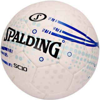 斯伯丁SPALDING足球5号耐磨比赛训练热熔64-937Y白/蓝色PU