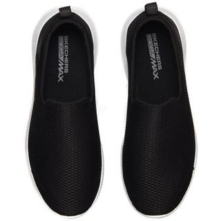 SKECHERS 斯凯奇 54600/BKW 男士健步鞋 黑色/白色 43.5