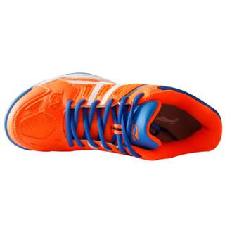LI-NING 李宁 AYTM061-2 男士羽毛球鞋 训练鞋 荧光耀橙/艳蓝/白 43