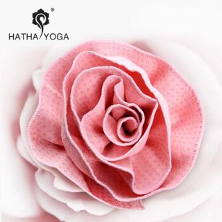 哈他专业瑜伽铺巾 硅胶防滑瑜伽垫毯子  印花粉(送便携收纳袋)