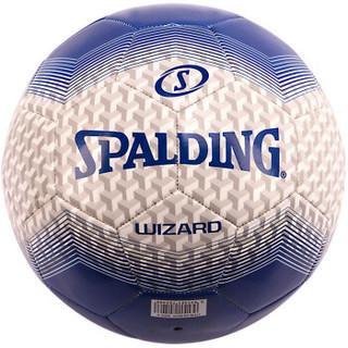 斯伯丁SPALDING足球5号奇才系列耐磨机缝64-923Y 蓝/灰色 TPU
