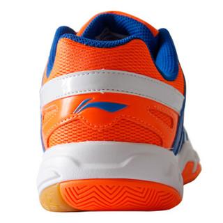 LI-NING 李宁 AYTM061-1 男士羽毛球鞋 训练鞋 艳蓝/荧光耀橙/白 41