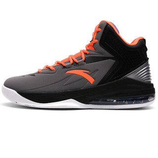 ANTA 安踏 91631101-4 男士半掌气垫篮球鞋 钢灰/荧光超级橙/黑 42.5