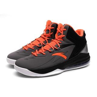 ANTA 安踏 91631101-4 男士半掌气垫篮球鞋 钢灰/荧光超级橙/黑 43