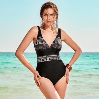 BALNEAIRE 范德安 60078 女士连体泳衣 黑色 XL
