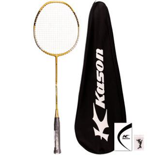 凯胜(KASON)力量型羽毛球拍全碳素碳纤维单拍ForceT210金色(已穿线)