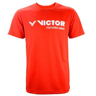 VICTOR 威克多 T-6027C 短袖T恤 红色 XL