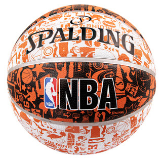 SPALDING 斯伯丁 涂鸦系列 7号橡胶篮球 73-722Y