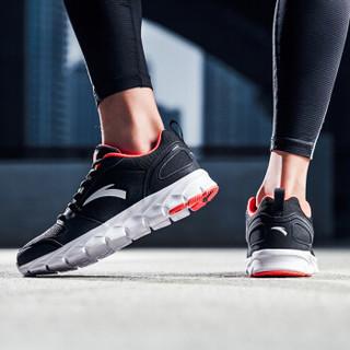 ANTA 安踏 91635516-13 男士缓震跑步鞋 黑/荧光亮深红 40.5