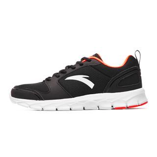 ANTA 安踏 91635516-13 男士缓震跑步鞋 黑/荧光亮深红 39